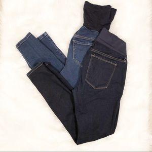 Maternity skinny blue jean bundle/small 4 gap